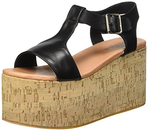 Jeffrey Campbell Weekend Leather, Scarpe con Tacco a Punta Aperta Donna nero