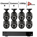 Q-See Surveillance System 8-Channel HD Analog DVR with 2TB Hard Drive, Black (QTH83-8CN-2)