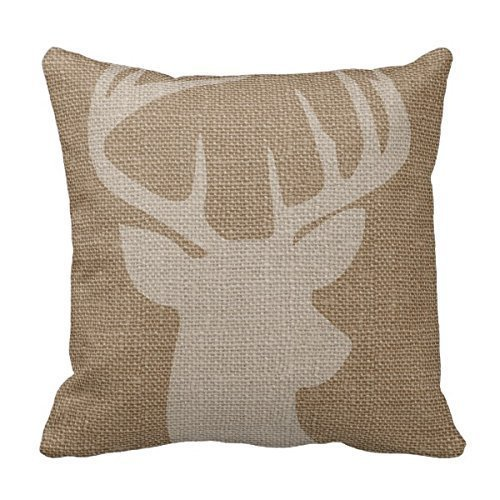 cukudy-decors-square-decorative-throw-pillow-case-cushion-cover-rustic-deer-buck-burlap-throw-pillow