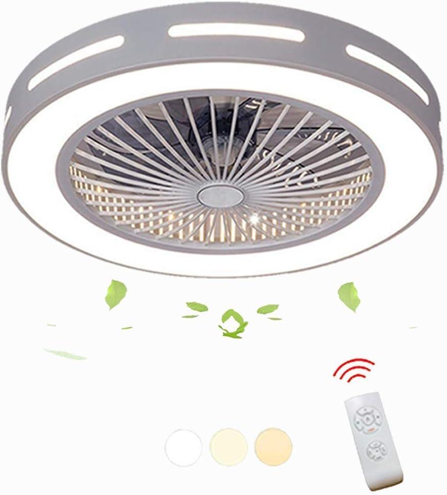 Moderna lámpara de techo LED con ventilador creativo para el hogar, con mando a distancia y ventilador de iluminación de ahorro de energía lámpara de techo