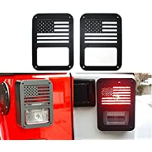 Tail Lamp Guards for Jeep Wrangler 2007-2016 - Pair (USA Flag)