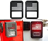 jeep wrangler rubicon spare tire - E-cowlboy Tail light Cover Trim Guards Protector USA flag for Jeep Wrangler JK JKU Sports Sahara Freedom Rubicon X & Unlimited 2007-2018 (pack of 2)