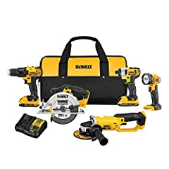 DEWALT DCK521D2 20V MAX* Compact 5-Tool Combo Kit (2 Ah) features our DCD780 20V MAX* Lithium Ion Compact Drill / Driver which is lightweight and compact for working in tight spaces for long periods of time. The DCF885 20V MAX* Lithium Ion 1/...