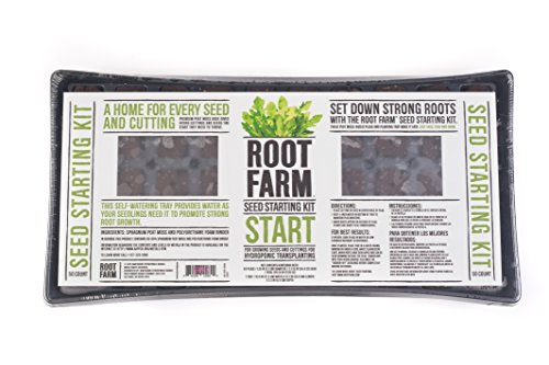 Starting Seeds Hydroponic - Root Farm 10101-10084 Seed Germination Kit for Hydroponic Seedlings-Starts 50 Plants, Easy to Use