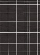 White Lines Flannelback Vinyl Tablecloth in Black, 60x104 Oblong (Rectangle)