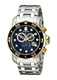 Invicta Men's 80041 Pro Diver Chronograph Blue Dial Stainless Steel Watch