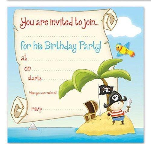 Invitation Shop Birthday (16 x Boys Birthday Invite Party Invitations With Pirate Design by shop inc)