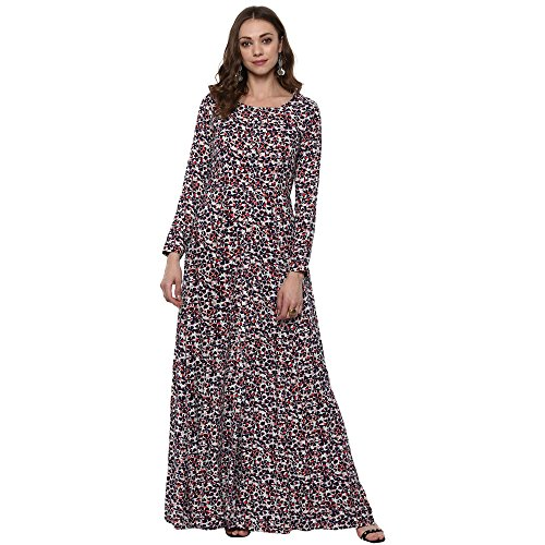 Indian Virasat Kurtis Ethnic Women Kurta Kurti Tunic Multicolouredl Print Top Dress New Casual Wear by Indian Virasat