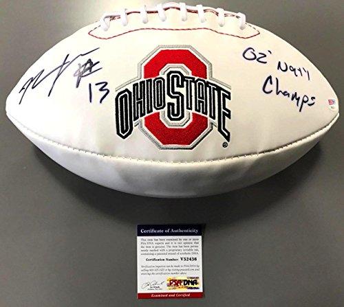 Maurice Clarett Signed 2002 14-0 Ohio State Buckeyes Football Coa - PSA/DNA Certified - Football 2002 Buckeyes State Ohio