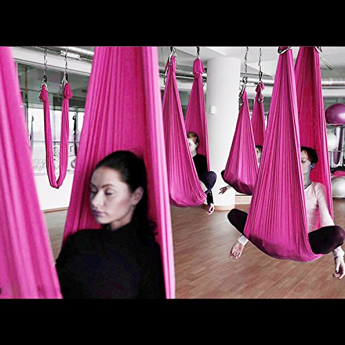 AIC Yoga Swing Ultra Strong Antigravity Yoga Hammock/Trapeze/Sling for Antigravity Yoga with Adjustable Handles and 2 Extension Straps and Installation Hardware include Carrying Bag