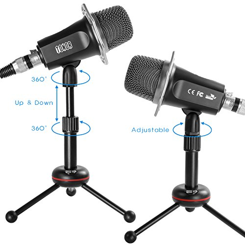 TONOR 3 5mm Condenser Sound Podcast Studio Recording Microphone for  Computer Karaoke, video chat, audio recording, and podcasts