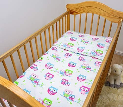 2 Stuk Baby Kids Beddengoed Set 120x90cm Dekbedovertrek Kussensloop voor Peuter CotPatroon 23