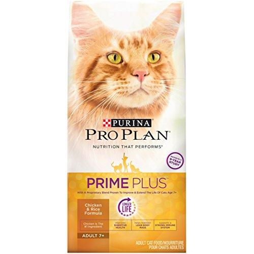 Purina Pro Plan Prime Plus Chicken & Rice Formula Adult 7+ Dry Cat Food - 5.5 Lb. Bag