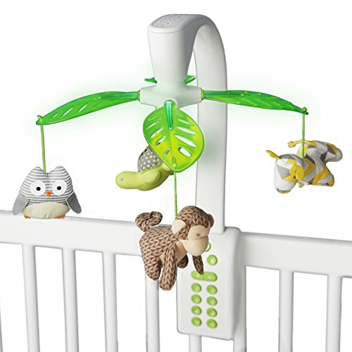 Skip Hop Moonlight & Melodies Projection Mobile, White, Safari (Baby Projection Mobile)
