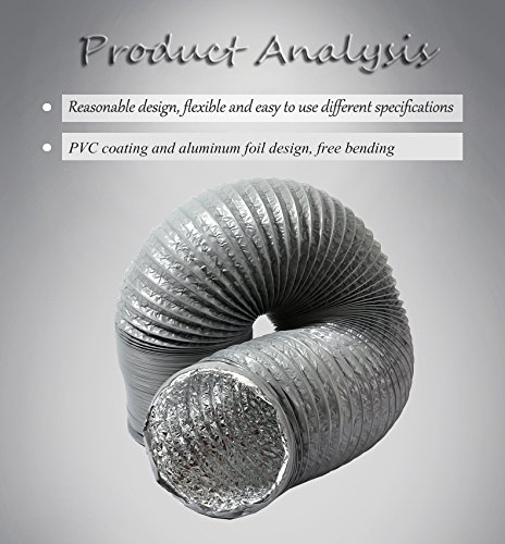 HG Power Duct Silencer Flexible Ducting Hose Noise Reducer Hose Silencer for Inline Duct Fan (5inch) by HG POWER (Image #6)