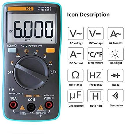 DXX-HR Multifunction Digital Multimeter AC/DC Voltage Current Tongs Resistance Diode Capacitance Temperature Tester