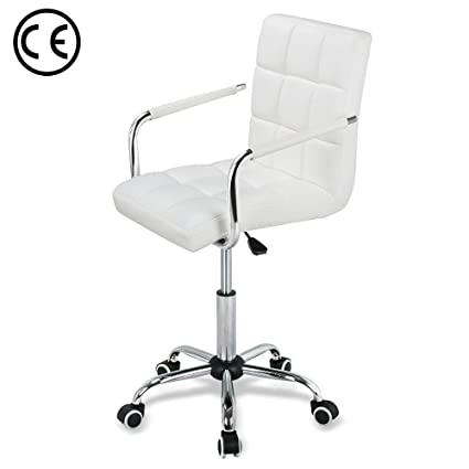 Admirable Amazon Com Adjustable Leather Office Chair With Arm Rest Lamtechconsult Wood Chair Design Ideas Lamtechconsultcom