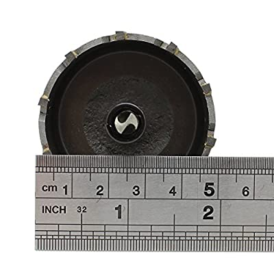 """AUTOTOOLHOME 2"""" 50mm Steel Hole Saw Tooth Carbide Tip TCT Drill Bits Kit for Thick Metal Wood"""