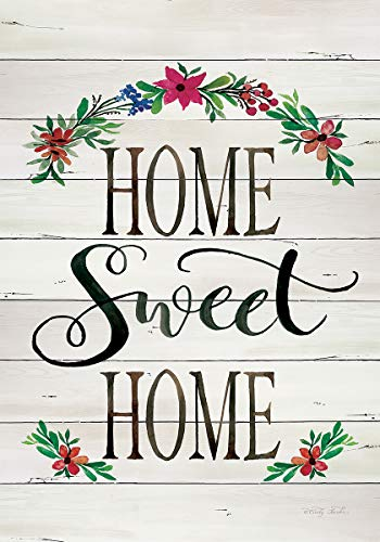 Custom Decor Shiplap Home Sweet Home - Standard Size, Decorative Double Sided, Licensed and Copyrighted Flag - Printed in The USA Inc. - 28 Inch X 40 Inch Approx. Size