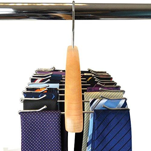 Hangerworld Premium Wooden Tie Rack Hanger