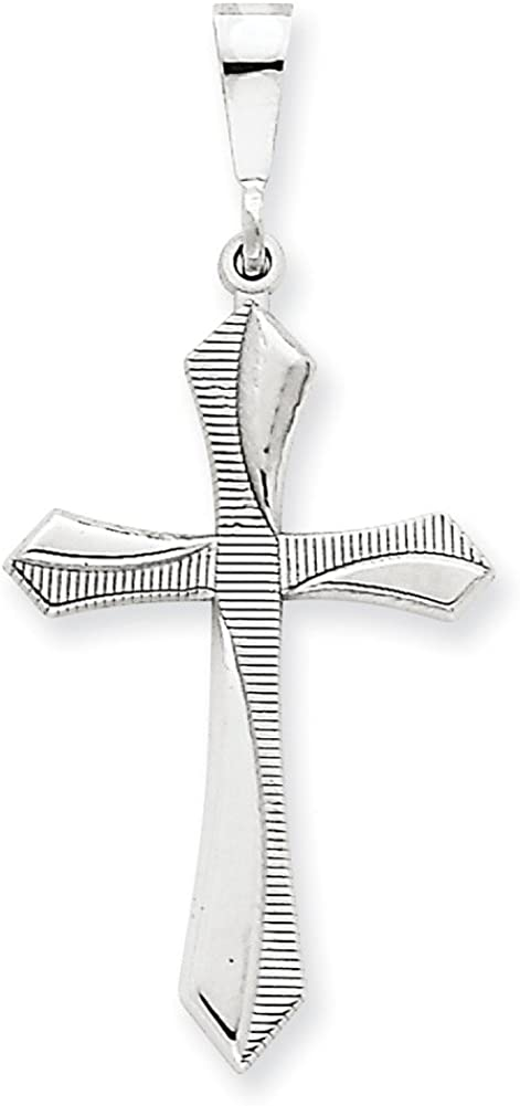 Lex /& Lu 14k White Gold Passion Cross Pendant LAL74828