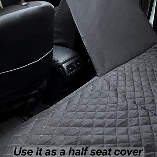 Dog Car Seat Covers Set - Pet Seat Covers Set - Dog Car Seat Covers WaterProof - Heavy Duty Dog Seat Cover WaterProof - Dog Car Seat Covers Heavy Duty - Vehicle Seat Covers for Dogs - HAMMOCK black by FG [FamilyGroup] (Image #6)