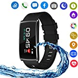 Hangang Smart Watches,Touch Screen Smart Watch Smart Wrist Watch Compatible with Android Phones IOS for Kids Men Women with Sleep Detection. (black)