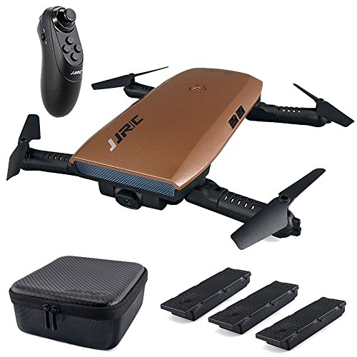 Teeggi FPV Gravity RC Drone H47 with Camera Live Video and 720P HD WIFI Camera Selfie Foldable Quadcopter Drones for Kids & Beginners Altitude Hold Headless Mode, Bonus Battery, Charger, Portable Case