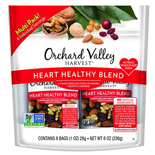 - ORCHARD VALLEY HARVEST Heart Healthy Blend, Non-GMO, No Artificial Ingredients, 1 oz (Pack of 8)