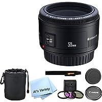 Canon EF 50mm f/1.8 II Camera Lens Bundle- International Model