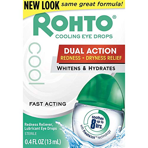 Rohto Cool Redness Relief Eye Drops 0.4 Fl Oz