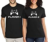 SuperPraise Matching Couples T Shirts Player 1 Player 2 Games His & Her Outfits