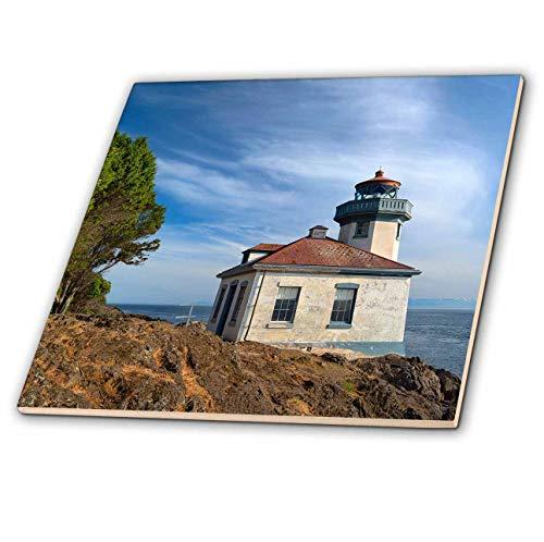 3dRose Danita Delimont - Washington - USA, Washington State, San Juan Island, Lime Kiln Point Lighthouse. - 6 Inch Glass Tile (ct_315158_6)