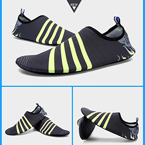 Leezo Unisex Adult Summer Outdoor Water Shoes Aqua Socks Quick-Dry Breather Sports Skin Shoes for Beach Swim Surf Yoga Exercise black ash flame 6l2sxFfq