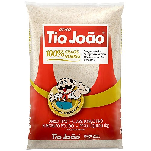 Tio João - Brazilian Long Grain White Rice | 35 OZ (1kg) x[3Pack] … by Arroz Tio Joao