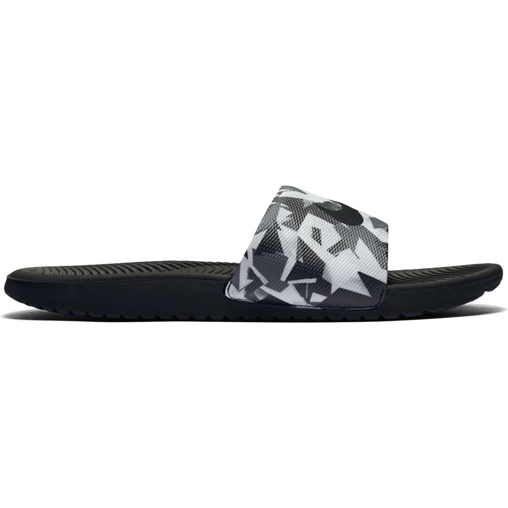 1291a8d026baf8 Galleon - NIKE Men s Kawa Slide Print Sandals Dark Grey White-Black 12