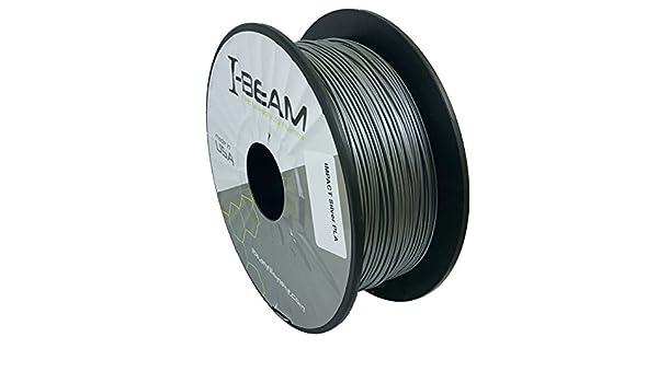 Vigas impacto Pla plata 3d impresora filamento 1,75 mm/1kg Bobina ...
