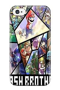 New DanRobertse Super Strong Pokemon Link Mario Wario Super Smash Bros Captain Falcon Star Fox Tpu Case Cover For Iphone 4/4s