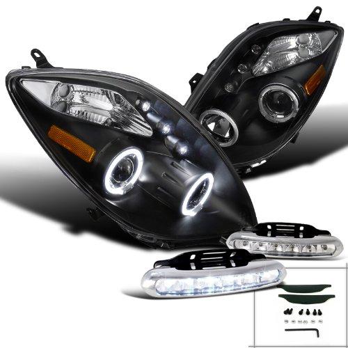 Black Toyota Yaris Halo Projector Headlights+Led Drl Fog Bumper Lamps (Sedan Yaris Used Toyota)