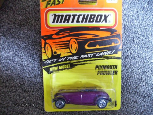Matchbox,super Fast, Plymouth Prowler Collector #34(1994) Purple