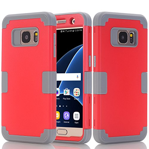 Galaxy S7 Case, Beimu Shock Absorption Impact Resistant Hybrid 3in1 Hybrid Heavy Duty Armor Rugged Full-Body Defender Protective Case Cover for Samsung Galaxy S7