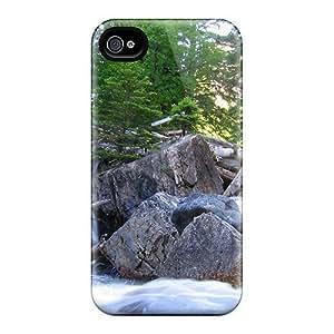 Flexible Tpu Back HTC One M8 - Waterfull Going Through Rocks Logs