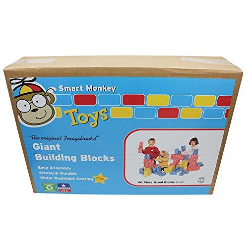 (Smart Monkey Toys Giant Building Block 40-Piece Set )