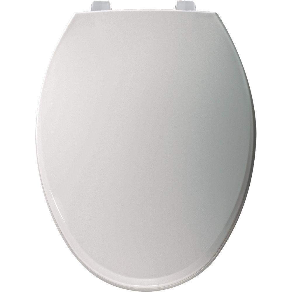 Bemis 7600T 000 Just-Lift Elongated Closed Front Toilet Seat, White