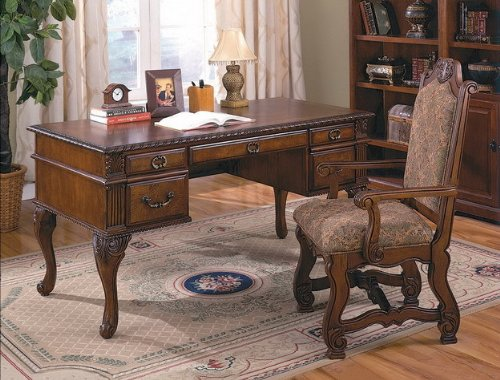 Neo Renaissance Home Office Desk By CrownMark Furniture