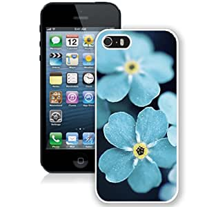 Forget Me Blue Flowers (2) Hard Plastic iPhone 5 5S Protective Phone Case