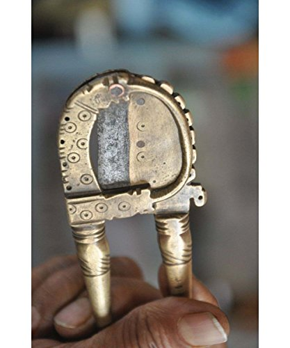 Radha Krishna Shop 1930's Old Brass Handcrafted Engraved Solid Betel Nut  Cutter/Sarota,Rich Patina