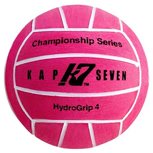 KAP7 Size 4 HydroGrip Water Polo Ball, Neon Pink