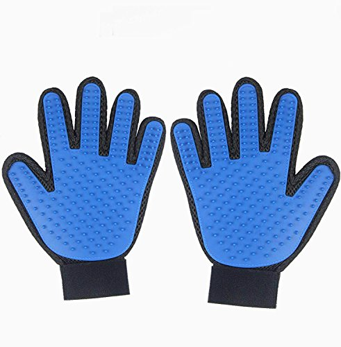 EASTOP Pet Grooming Glove As Seen On Tv Pet Grooming Glove Left Hand Pet Grooming Glove Pairs (2 packs) (Left hand + right hand) by EASTOP