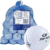 Top Flite 48 Recycled Golf Balls in Mesh Bag, White Color